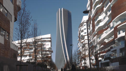 Milan City Life skyscraper and residential apartments Live Action