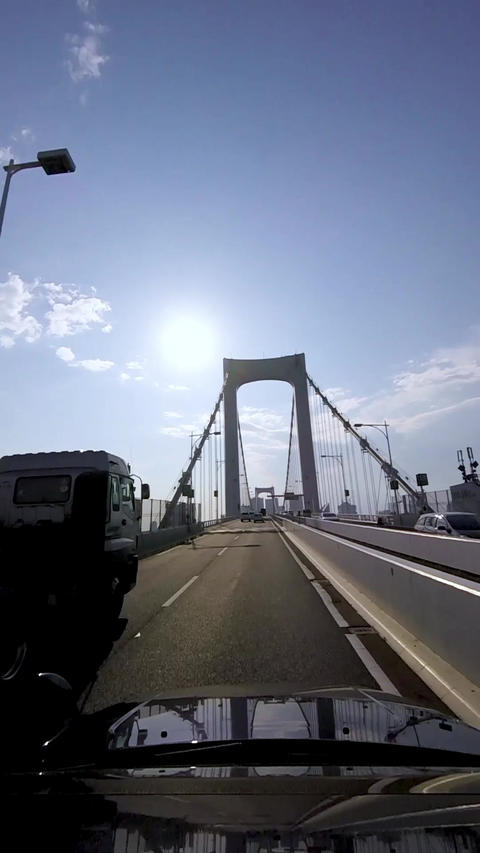 1080x1920 VerticalMovie HighwayDriving RainbowBridgeTOKYO Footage