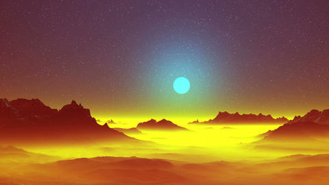 Surreal Alien Landscape Animation