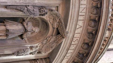 Vertical video. La Chiesa di San Carlino alle Quattro Fontane. Roma, Italy Footage