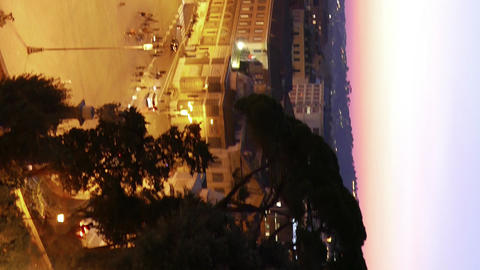 Vertical video. Piazza del Popolo. Evening, Panorama. Rome, Italy Footage