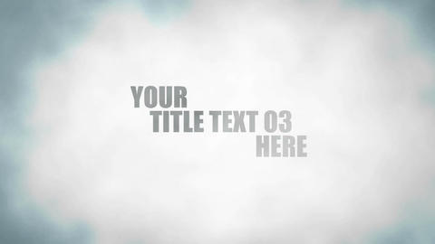 Smoke Title Logo After Effects Template