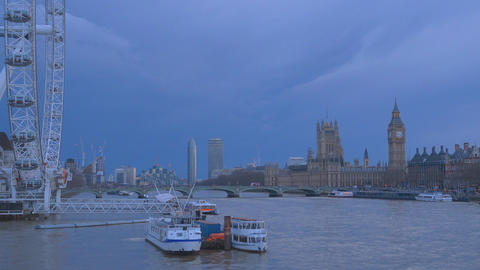Westminster and The Houses of Parliament London Live Action