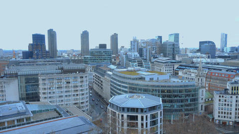 Modern city of London aerial view Live Action
