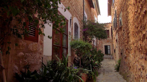 Beautiful mansions in a small spanish village Live Action