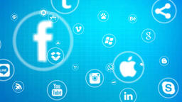 Social Media Icons stock footage