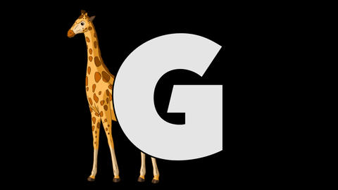 Letter G and Giraffe (background) Animation