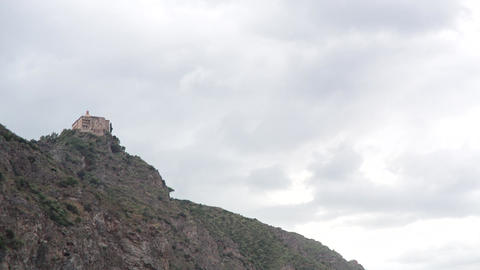 Christian Church On A Cliff Footage