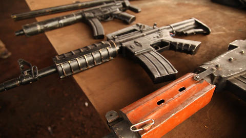 Guns with Drug Mafia Stock Video Footage