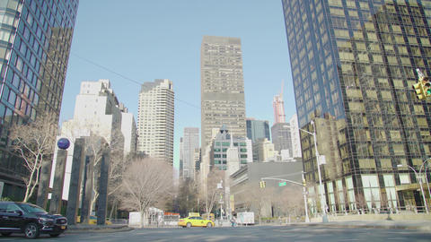 New York where there are many buildings and the sun Footage