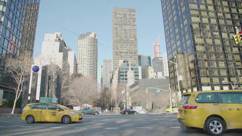 New York where there are many buildings and the sun NYC Footage