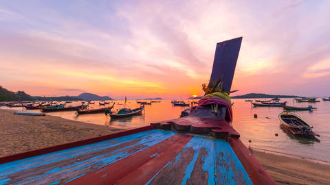 Amazing Sunrise Timelapse at Thai Sea Side Rawai Beach. Phuket Island, Thailand Footage