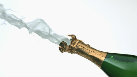 Slow Motion Champagne Bottle Footage
