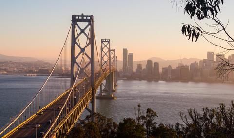 The Bay Bridge In San Francisco Footage
