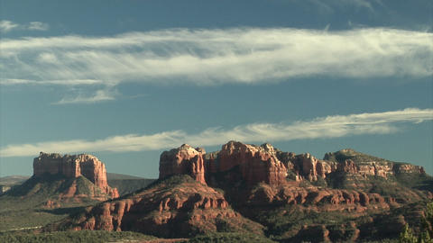 Beautiful sky over beautiful red rock mountains Footage