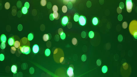 Colorful green loop animated background Bokeh Animation