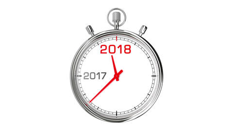 New Year 2018 Stopwatch (with Matte) Animación