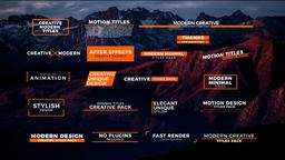 20 Modern Titles Motion Graphics Template