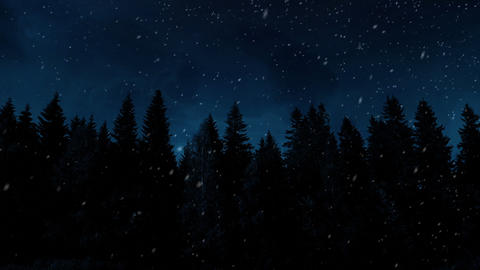 Winter Night Background Animation