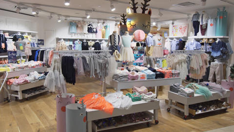 Inside childrens clothing store at Suria KLCC. shopping destination in KL Footage