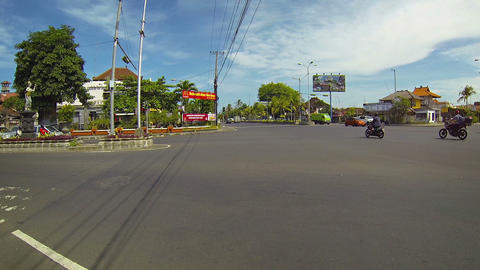 Large intersection with heavy traffic. Bali. Indonesia Footage