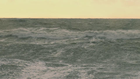 Raging seas during alaskan storm Live Action