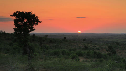 Sunset on the horizon in kenya Footage