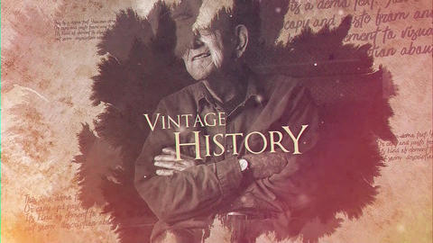 Vintage History After Effectsテンプレート