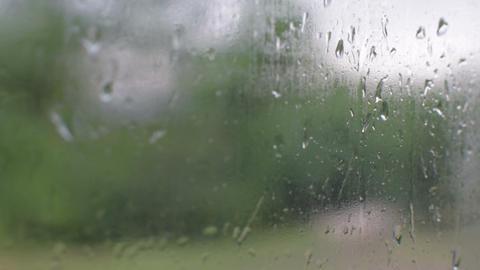 Rain on glass Footage