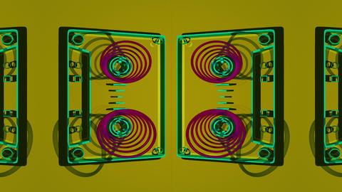 Flat cassette spool Footage