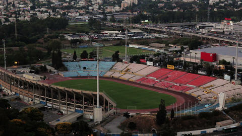 Aerial view of cityscape of Ramat Gan Stadium Archivo