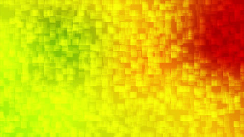 Colorful pixelated squares mosaic video animation Animation