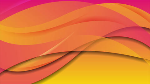 Pink and orange abstract flowing waves video animation Animation