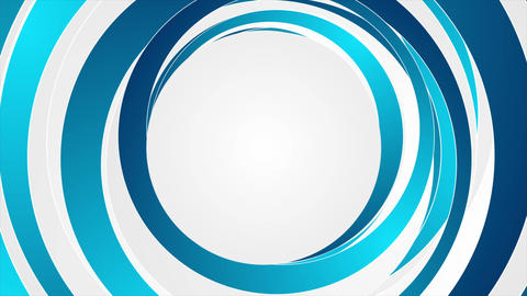 Blue and white abstract circles video animation Animation