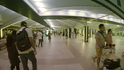 Main concourse of Velana International Airport in the Maldives Footage