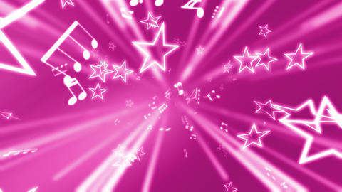 Pink stars and music notes Live Action