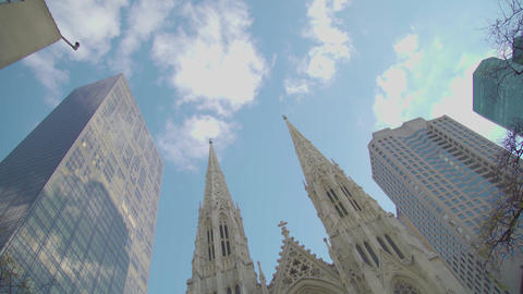 St Patrick's Cathedral NYC Footage