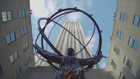 Atlas Statue NYC Live Action