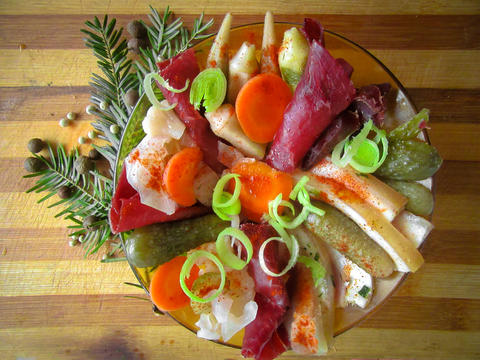 In the spirit of tradition: Bulgarian New Year appetizer Fotografía