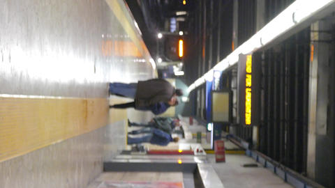 Vertical video. Arriving by train, subway. Rome, Italy Footage
