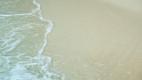 Gentle Waves Washing a White Sand Tropical Beach Live Action