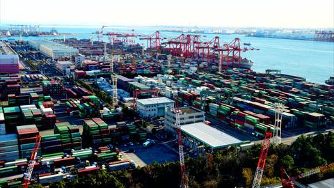 Aomi Container Terminal Tokyo bay #2 Archivo