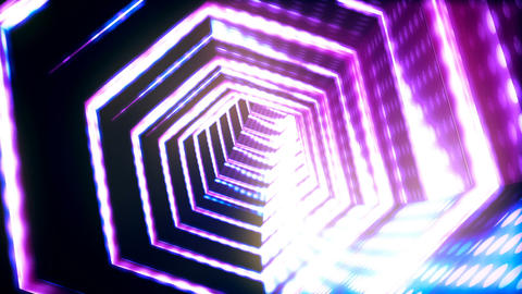 Looped seamless light tunnel for event, concert,…, Stock Animation