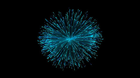 Firework flower explode particles blue After Effects Template