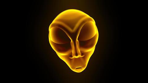 Alien grey head face creepy extraterrestrial gray martian creature ufo 4k Live Action