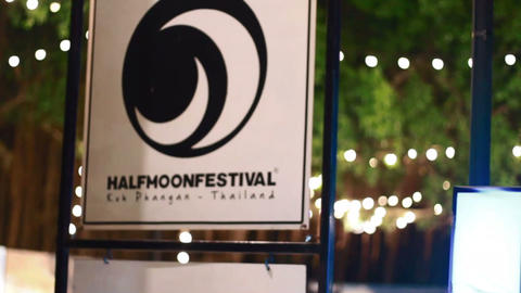 half moon festival sign on christmas Live Action