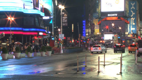 Corner of new york city intersection timelapse Live Action