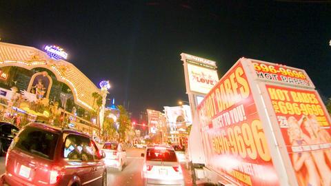 Time lapse driving down las vegas strip Footage