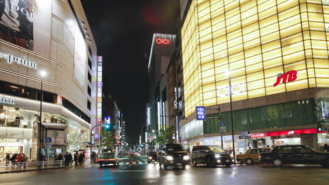 Pov streets at night seen from driving car shinjuku ward tokyo honshu japan Footage