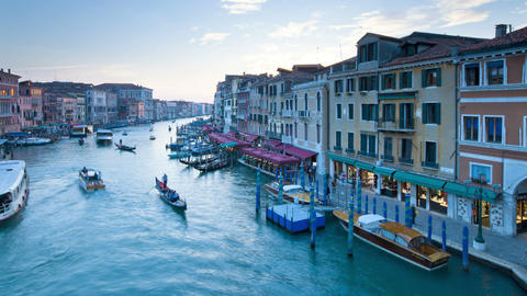 View of the grand canal from the rial to bridge district of san marco venice Footage